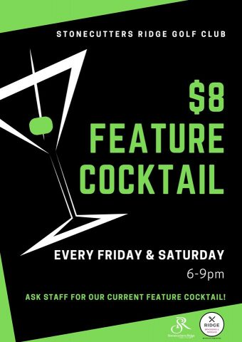 $8 Feature Cocktail is back!